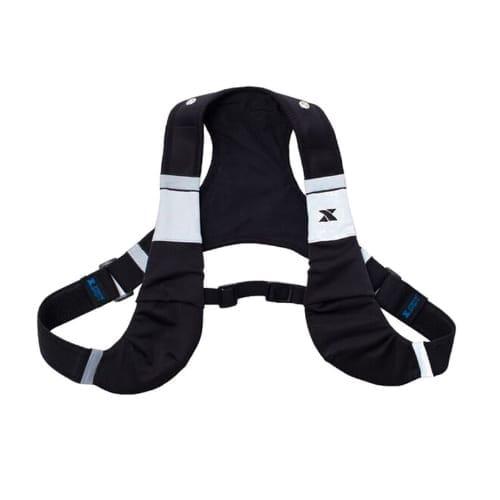 led x vest black