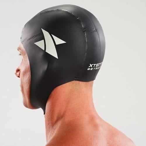neoprene swim cap side back